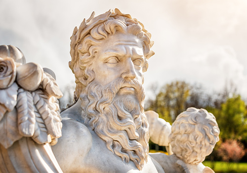 A Marble Statue of Zeus