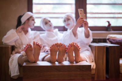 Bridal Party at a Spa