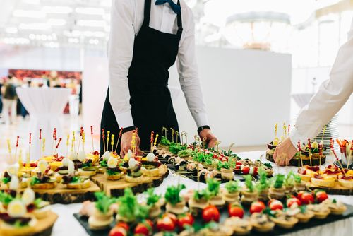 Caterer and Food Trays