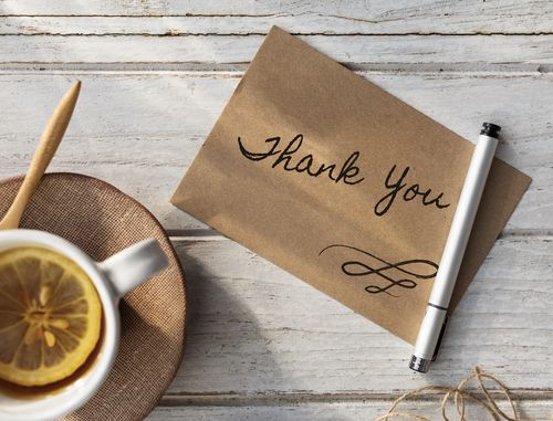 Coffee and Thank You Notes