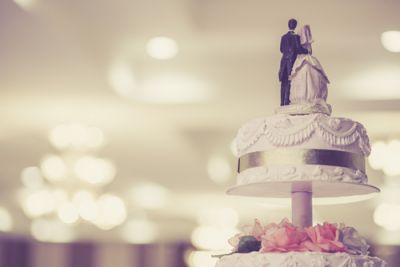 Pretty Wedding Cake Topper