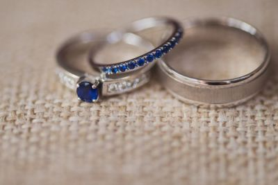 Sapphire Engagement and Wedding Bands