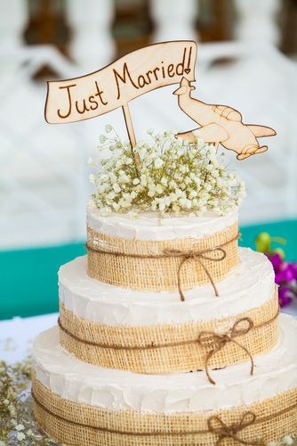 Wedding Cake With Neutral Topper