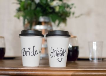 Perk Up Your Ceremony With a Wedding Reception Coffee Bar