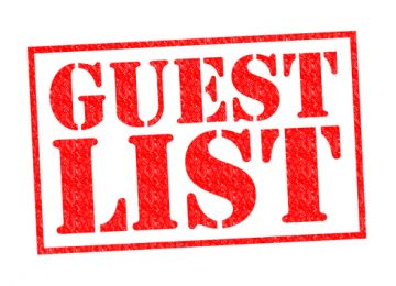Creating a Simple and Straightforward Guest List