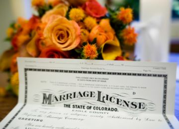 Colorado Moves to Modify Proxy Weddings
