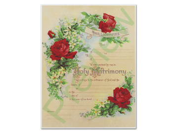 Marriage Certificate - Antique Rose