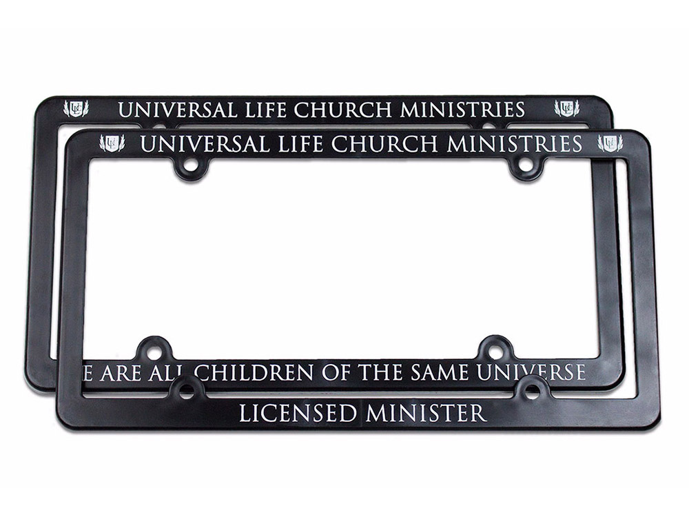 Minister License Plate Frames - Get Ordained