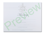 Marriage Certificate - Ivory Dove