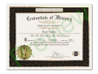 Exclusive Ordination Certificate