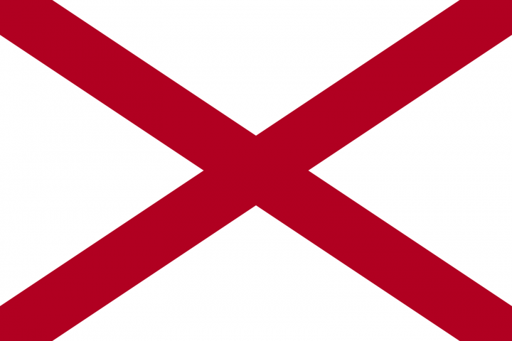 The Alabama state flag