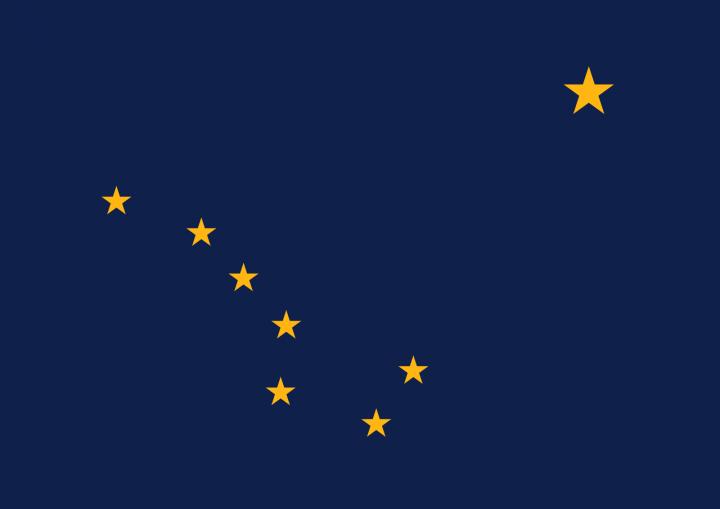 The Alaska state flag