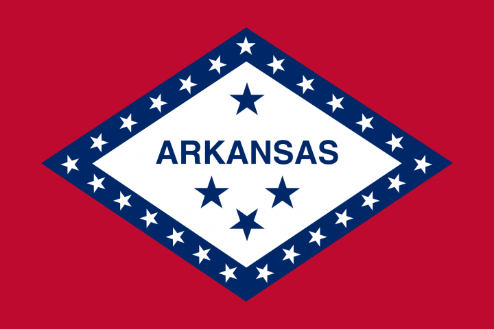 The Arkansas state flag