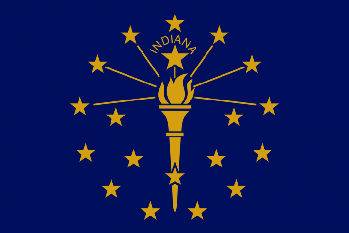 The Indiana state flag