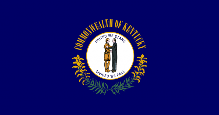 The Kentucky state flag