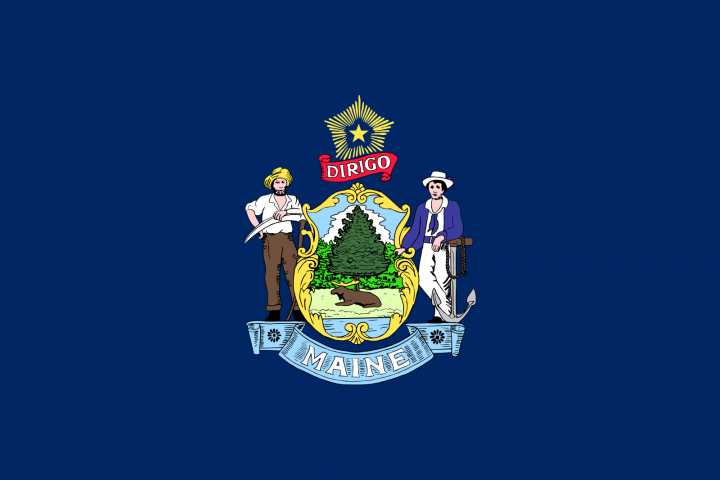 The Maine state flag