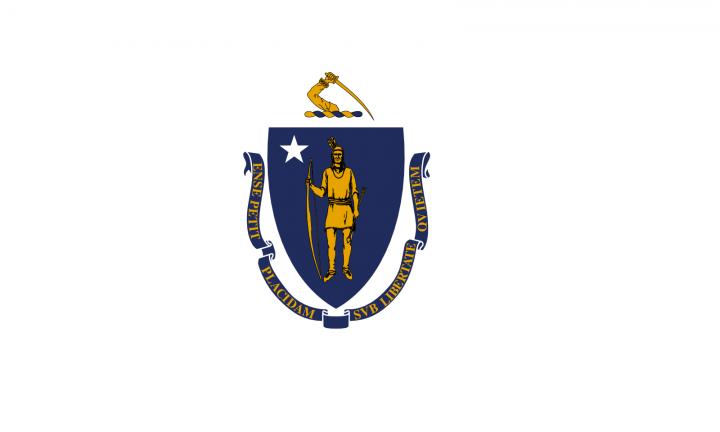 The Massachusetts state flag