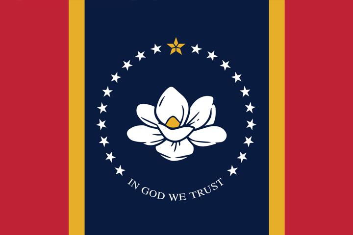 The Mississippi state flag