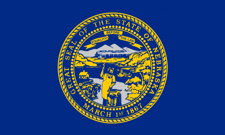 The Nebraska state flag