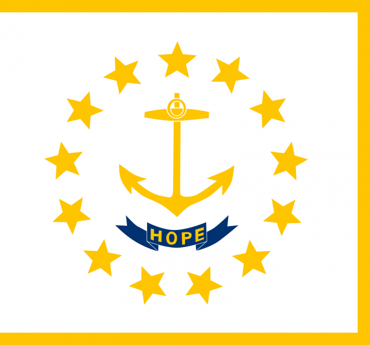 The Rhode Island state flag
