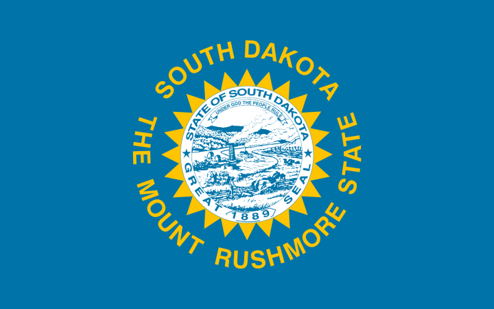 The South Dakota state flag