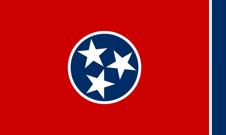 The Tennessee state flag
