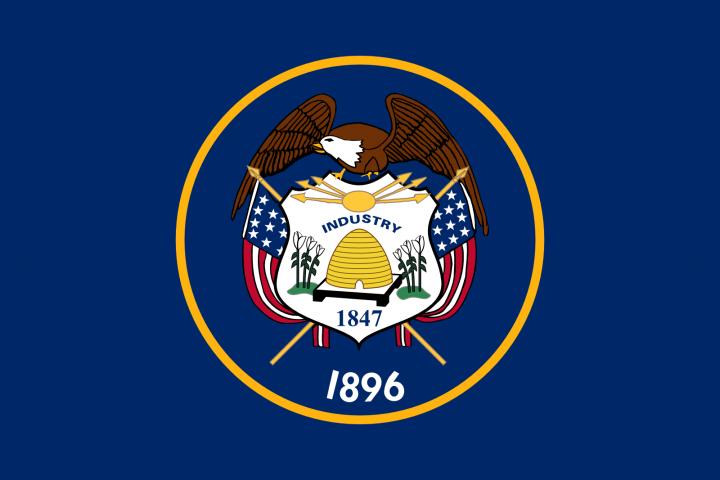 The Utah state flag