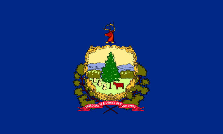 The Vermont state flag