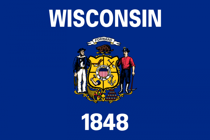The Wisconsin state flag