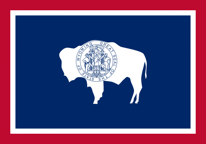 The Wyoming state flag